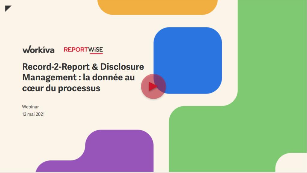 webinar disclosure management Reportwise